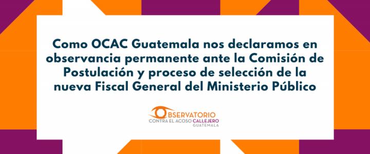 Comunicado sobre Elección Fiscal General