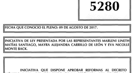 Iniciativa de ley 5280, busca incluir dentro del Código Penal, el delito de Acoso Sexual.